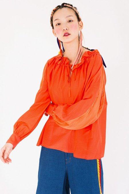 Tsumori Chisato Pleated Cotton Blouse