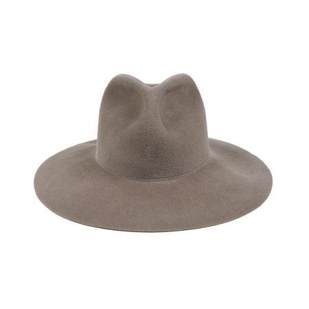 Clyde Wide Brim Pinch Hat - Mink