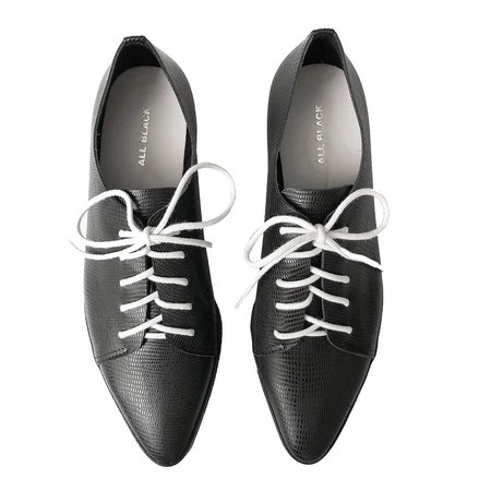 ALL BLACK Cas Tex Shoe - BLACK