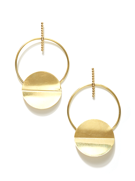 We Who Prey Extra Large Axis Shield Earring