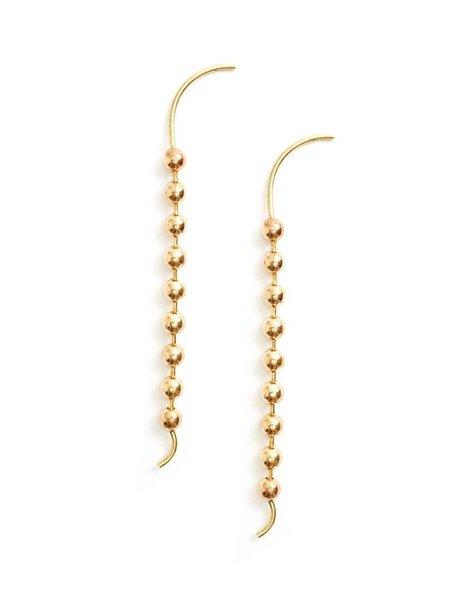 We Who Prey Meridian Drop Earrings - BRASS