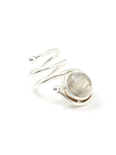 We Who Prey Moon Stone Coil Ring