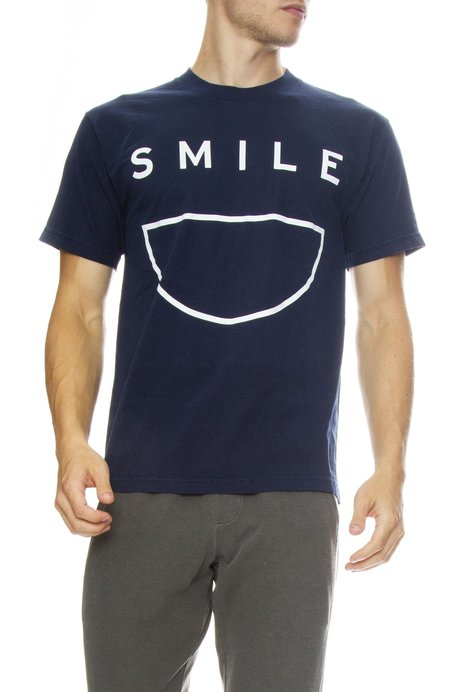 INSTED WE SMILE Big Smile Tee - Navy