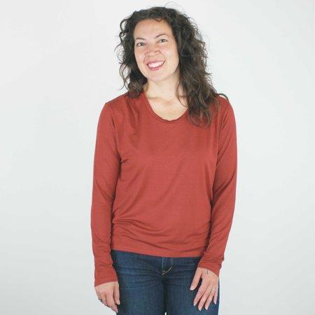 Sarah Liller Jocelyn Top - Rust