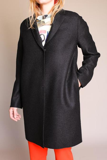 Harris Wharf London Cocoon Coat Pressed Wool - Black