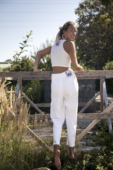 Projekt Eva Vintage Trousers - White