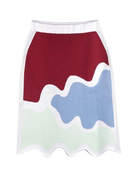 PH5 Kristal Skirt - MINT/MAROON