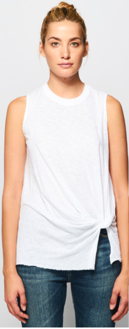 Stateside Knot Tank Top - White