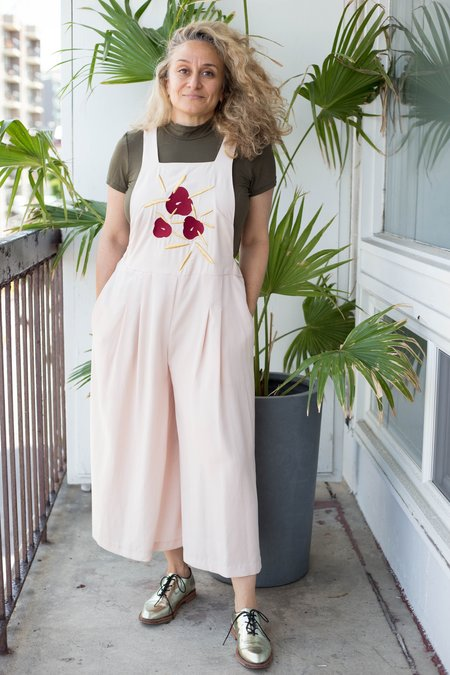 Noémiah Lise Jumpsuit - Pink Embroidered