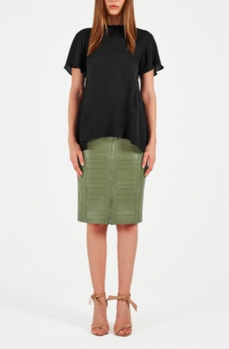 Rebecca Vallance Lilly Short Sleeve Top - Black