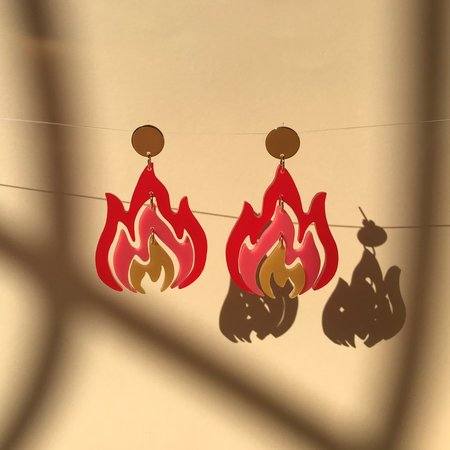Wasted Effort Pyro Earrings
