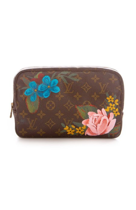 New Vintage Flowers Travel Pouch