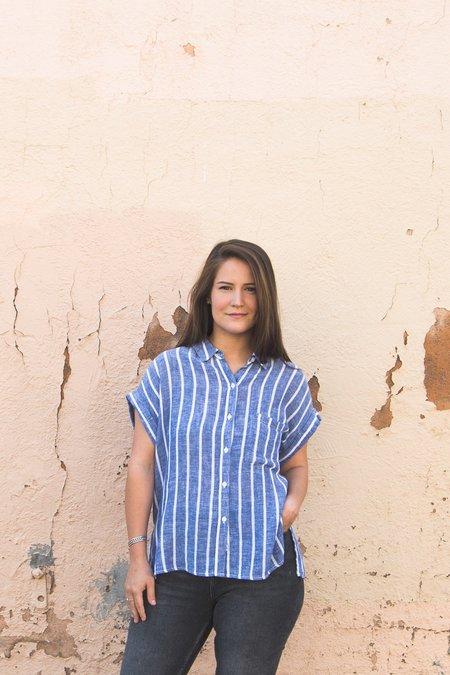 Rails Mia Arles Shirt - Blue & White Stripe