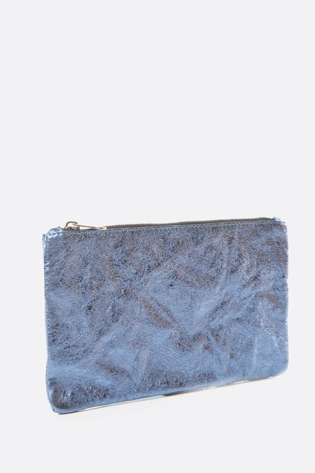Zilla Large Metallic Pouch - Navy