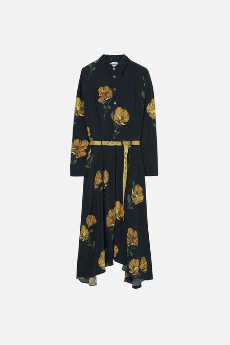 HOPE Bex Dress - Yellow Flower Print
