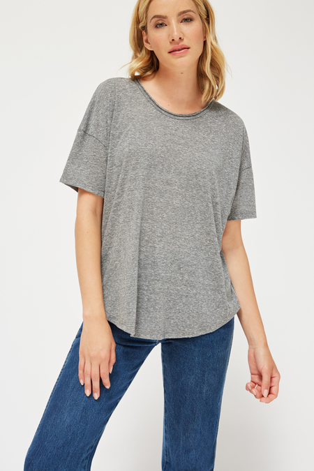Lacausa Forever Tee in Gravel Heather Grey