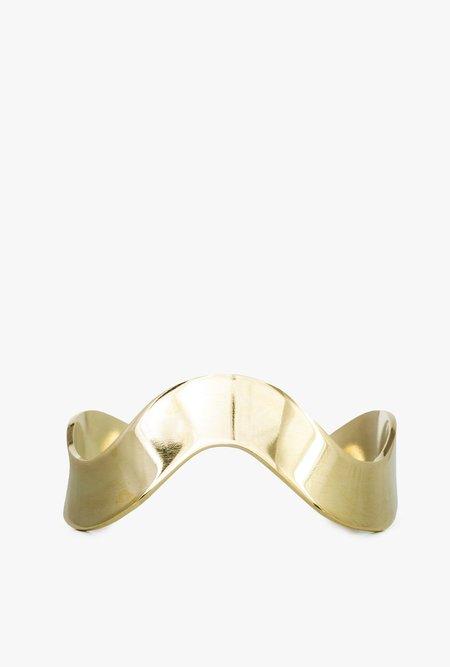 SOKO Unda Cuff Bracelet - brass