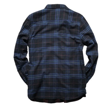 Globe Dock LS Shirt - Granite Plaid