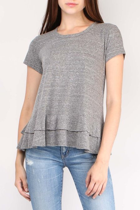 Sundry Tiered Tee - Heather Grey