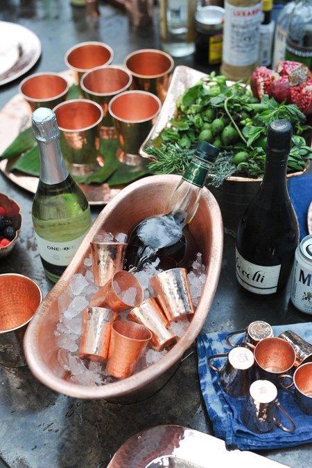Sertodo Copper Nile Cradle Oval Ice Bucket