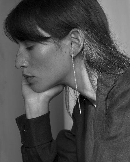 Knobbly Pearl Drip Earring