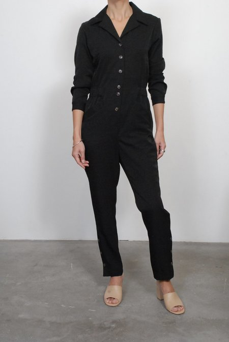 No.6 Hugo Coveralls - Black Cupro