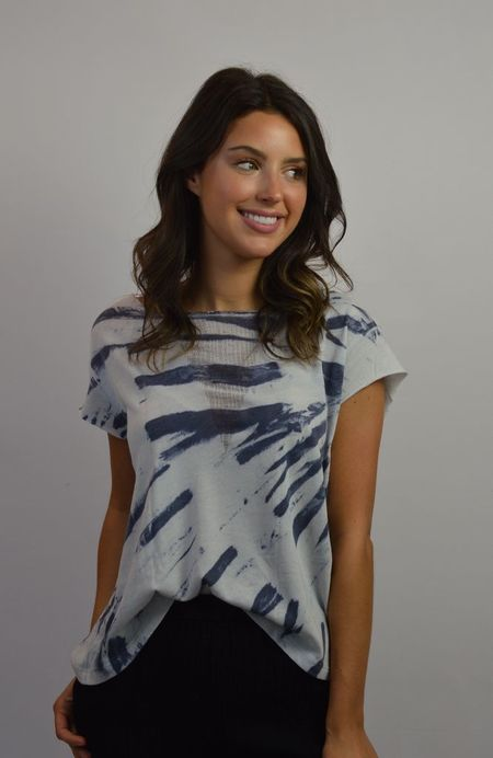 Raquel Allegra Shred Front Muscle Tee - Blue River