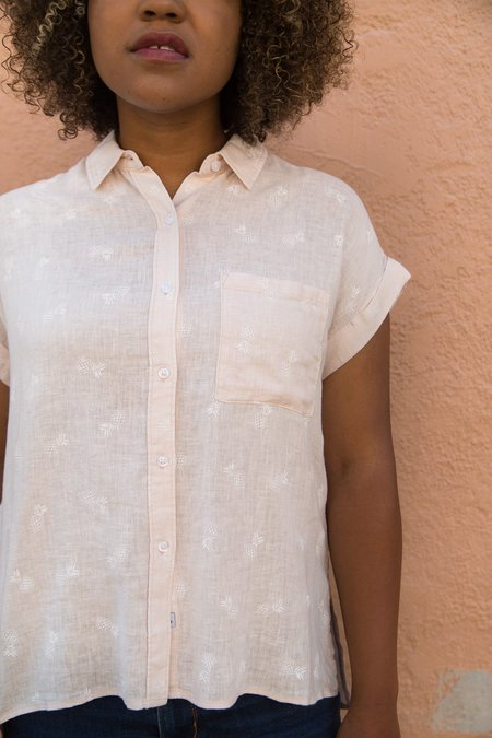 Rails Whitney White Pineapples Shirt - Blush