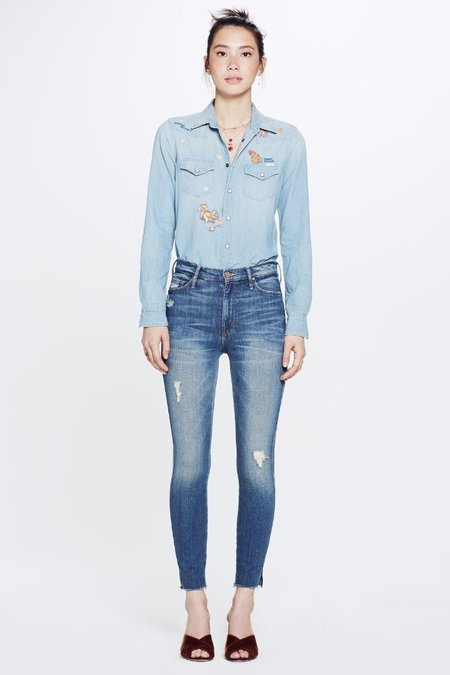 Mother Vamp Fray Jeans - Natural Born Trouble