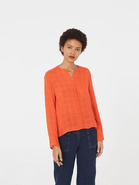 Nice Things Crepe Blouse - Orange