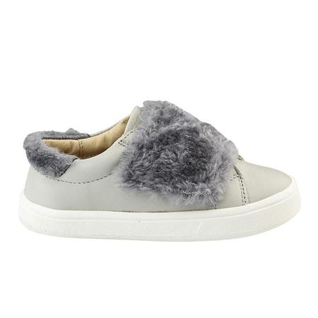 KIDS Old Soles Child Fur Master Shoes - Grey With Dark Silver Fur