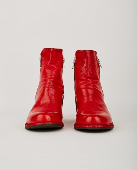 Officine Creative AGNES ZIP BOOT - RED LEATHER