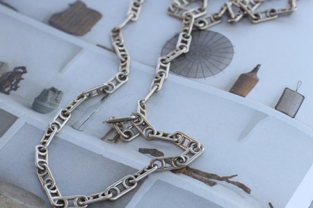 Vintage Alchemy Works Israeli Designer Necklace - Silver