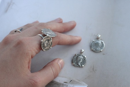 Vintage Alchemy Works Cesarean Coin Ring