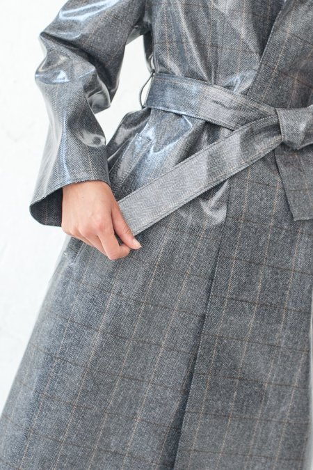 Hache Coat - Grey/Silver