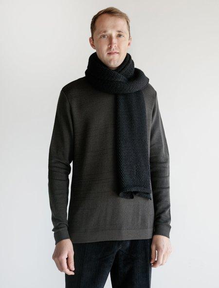 Stephan Schneider Honeycomb Knit Scarf  - Black