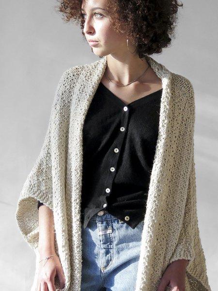 Erica Tanov Alpaca Kimono Cardigan - Natural