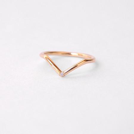 Mociun Mini Peak Band - 14k Gold with White Diamond