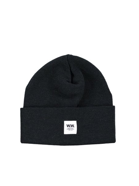 Wood Wood Gerald Tall Beanie - Dark Green