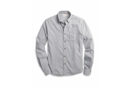 Faherty Brand Twill Chambray Pacific Shirt - Mist Grey