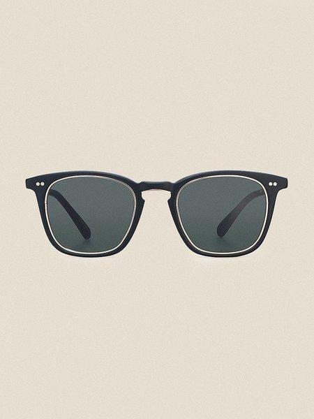 Mr Leight Getty S 48 SUNGLASSES - Matte Black/12K White Gold