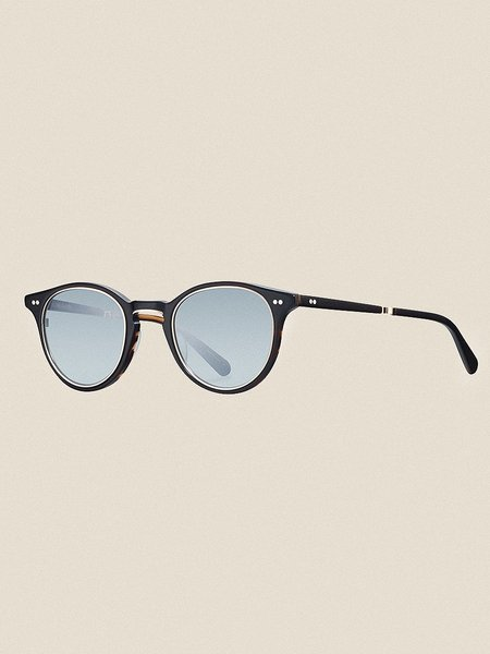 Mr Leight Marmont S48 -  Black Tortoise/12K White Gold/Green Mirror