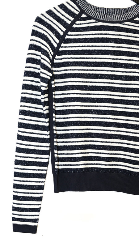 Grey by Jason Wu Striped Sweater - NAVY/WHITE