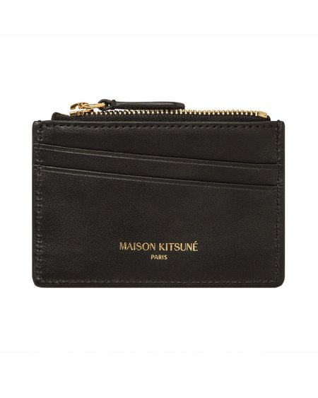 Maison Kitsune Leather Tricolor Card Holder