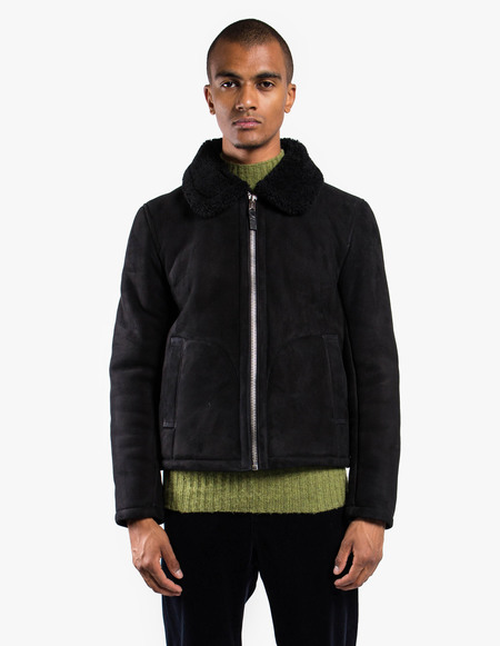 You Must Create Budgie Jacket - Black Suede