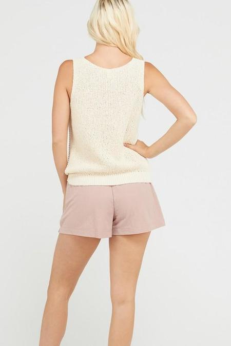 Wishlist Twist and Shout Sweater Tank - Natural