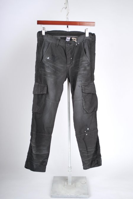 NSF Basquiat Pant - Distressed Faded Black