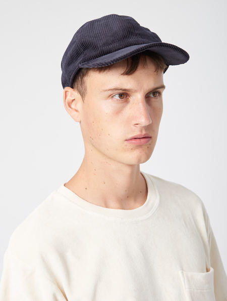 A Kind Of Guise Chamar Cap - Deep Navy Corduroy