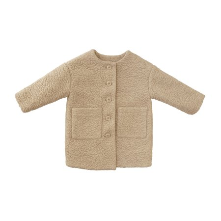 KIDS Tambere Shearling Coat - CREAM
