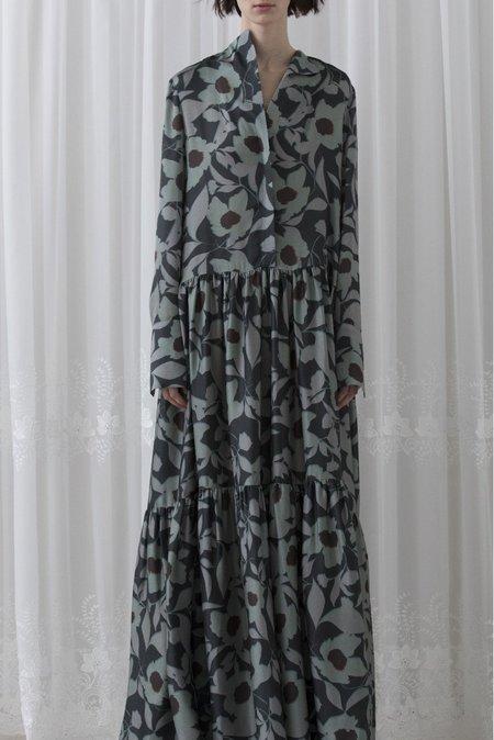 Christian Wijnants Dashak Ankle Length Dress - FASELLA FLOWER DARK